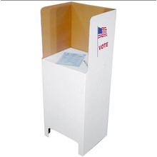 OEM for Poster Hollow Plate Printing Voting Booth with Customize Size supply to Russian Federation Supplier