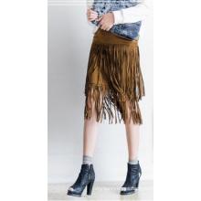Falda de borlas de estilo nuevo Falda de mujer de venta caliente