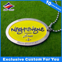 Cheap Custom Printing Zinc Alloy Metal Dog Tag for Gift
