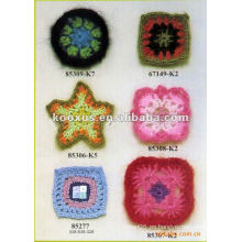 Flores de ganchillo para ropa decorativa