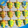 high quality anti-counterfeit laser fish sticker