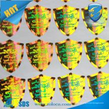 Etiquetas anti-contrafacção de poliéster holográfico personalizadas de alta segurança
