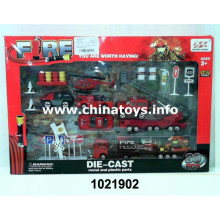 Lovely New Metal Fire Car Set Boy Toys (1021902)