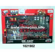 Прекрасный Новый Металлический Пожарная Машина Мальчик Игрушки (1021902)