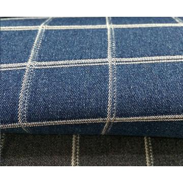 Tissu jacquard fait sur commande doux enduit de denim de mode