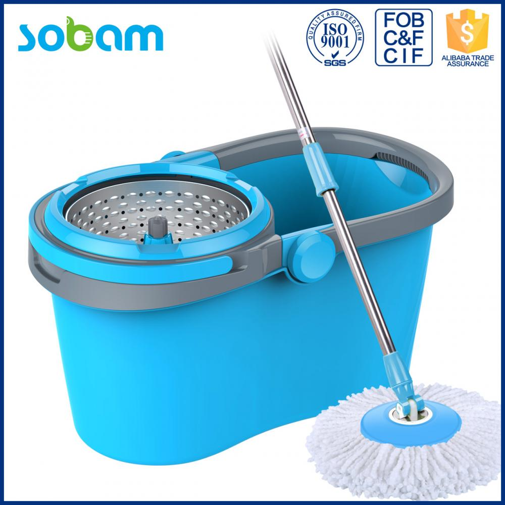 Plastic Bucket 360 Floor Microfiber Cleaning Mop