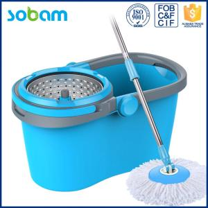 2017 Newest Mop,Trolley 360 Spin Mop Bucket With Microfiber