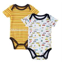Kurzarm Printed Baby Strampler 2-Pack 100% Baumwolle Baby-Kleidung Babysoft Overalls Baby Strampler