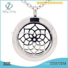 Moda design 30 milímetros 316l aço inoxidável medalhão, difusor de óleo essencial locket, perfume locket