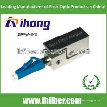LC / PC adaptador de fibra desnuda tipo cuadrado con carcasa metálica