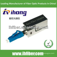 LC/PC bare fiber adapter square type with metal housing