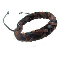 Handgemachte verstellbare Vintage Armband Leder Seil gewebte Paar Armband Tribal geflochtene Manschette Armreif