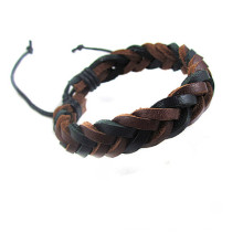 Handmade Adjustable Vintage Wristband Leather Rope Woven Couple Bracelet Tribal Braided Cuff Bangle