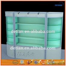 Shangai personalizada versátil bloqueable vitrinas de vidrio gabinete de exhibición de la belleza vitrina stands