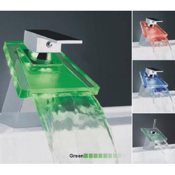 Monomando lavabo cromo LED