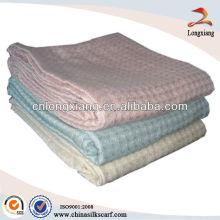 Manta de algodón con tejido de waffle