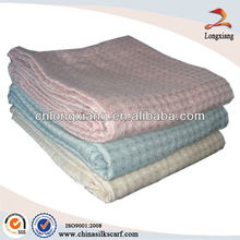 Couverture de coton en grès gaufre