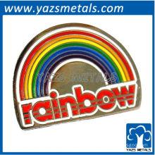 custom high quality rainbow logo pin badge/lapel pin
