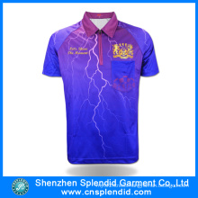 Men′s 2016 New Design Sublimated Polo T Shirt Wholesale