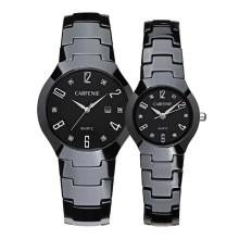Hochwertige schwarze und weiße Luxus-Paar-keramische Uhren