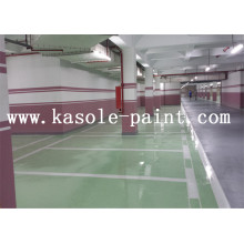 Green parking lot epoxy floor