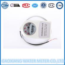 Medidor de agua de lectura remota con cable con válvula de motor