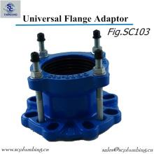 Adaptador de reborde de la amplia gama dúctil En545 del arrabio para el tubo del PVC