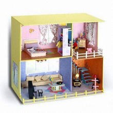 Hot Selling Fashionable Toy Villa, Composed of Study Room, Bedroom and Guest Room, EN71 Tested