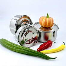 Stainless Steel Lunch Box Round Box Lunch Container