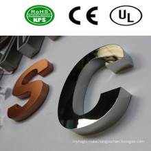 Polished Stainless Steel Letter Signs