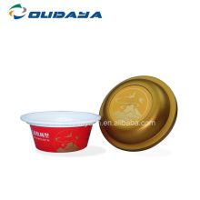 5.4oz round iml pudding packaging cup with lid