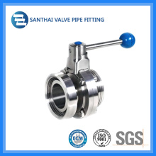 Sanitary Manual Stainless Steel Welded Butterfly Valve