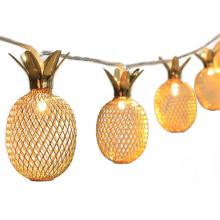10 LEDs Pineapple Line Light Metal Mesh