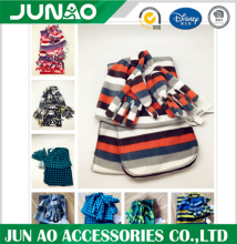 Soft printing fleece matching hat glove scarf combo set
