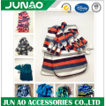 Soft printing fleece matching hat glove scarf combo set
