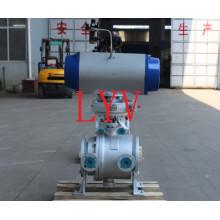 Mejor proveedor profesional de servicio para válvula de bola de aislamiento de acero fundido neumático