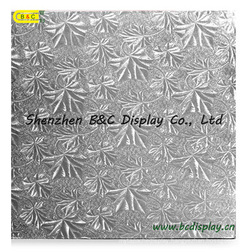 Silver Embossed Foil Corrugated Cake Boards, Cake Tray with SGS (B&C-K020)
