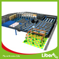 Indoor trampoline park foam pit blocks