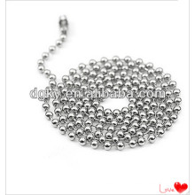 Stainless Steel Men Necklaces Round Bead Chain
