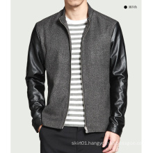 OEM 2015 New Arrival European Style Leather Jacket for Men
