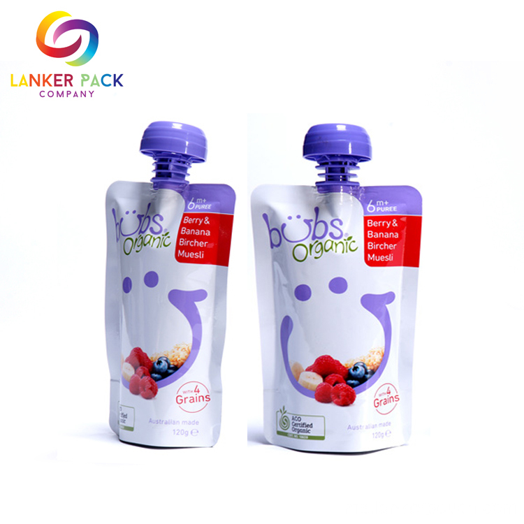 Custom BPA Free Clear Pouches With Spout