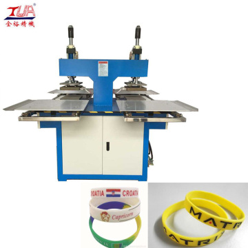 Custom Silicone Rubber Bracelets Embossing Machine