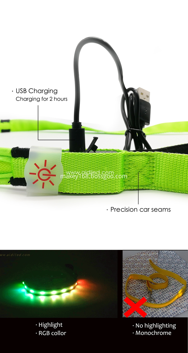 Led Rainbow Dog Leash