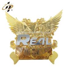 Mejor venta personalizada personalizada hecho a mano de oro ala souvenirs recuerdos placa del cargador