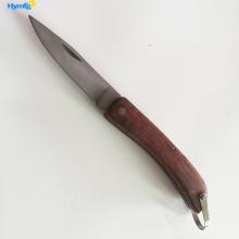 Couteau de poche avec manche en bois