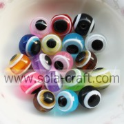 12MM 500PCS Wholesale All Kind Of Color Fashion Pretty Charm Round Evil Eye Oval Resin Jewelry Making Spacer Loose Beads