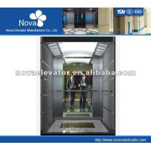 Hairline/etching/mirror stainless steel elevator for hotel, large load