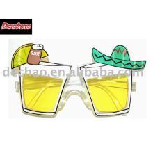 óculos de festa champanhe