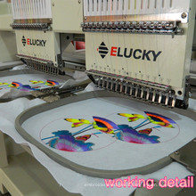 Shenzhen Elucky 9 colors high speed single head embroidery machine China top quality for textile embroidery