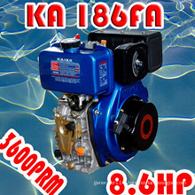 8HP Diesel Engine, KA186F Air-Cooled Single Cylinder